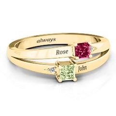 Princess Stone and Accent Ring #jewlr