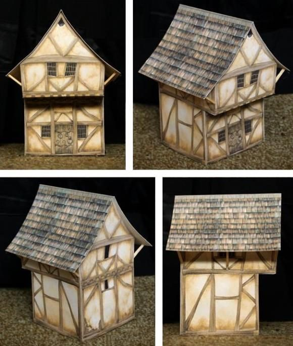 PAPERMAU: Seedy Town House Paper Model