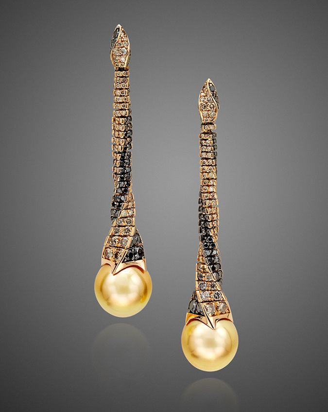 Designer Reho Concepts Golden South Sea Pearl Drop Earrings Ael