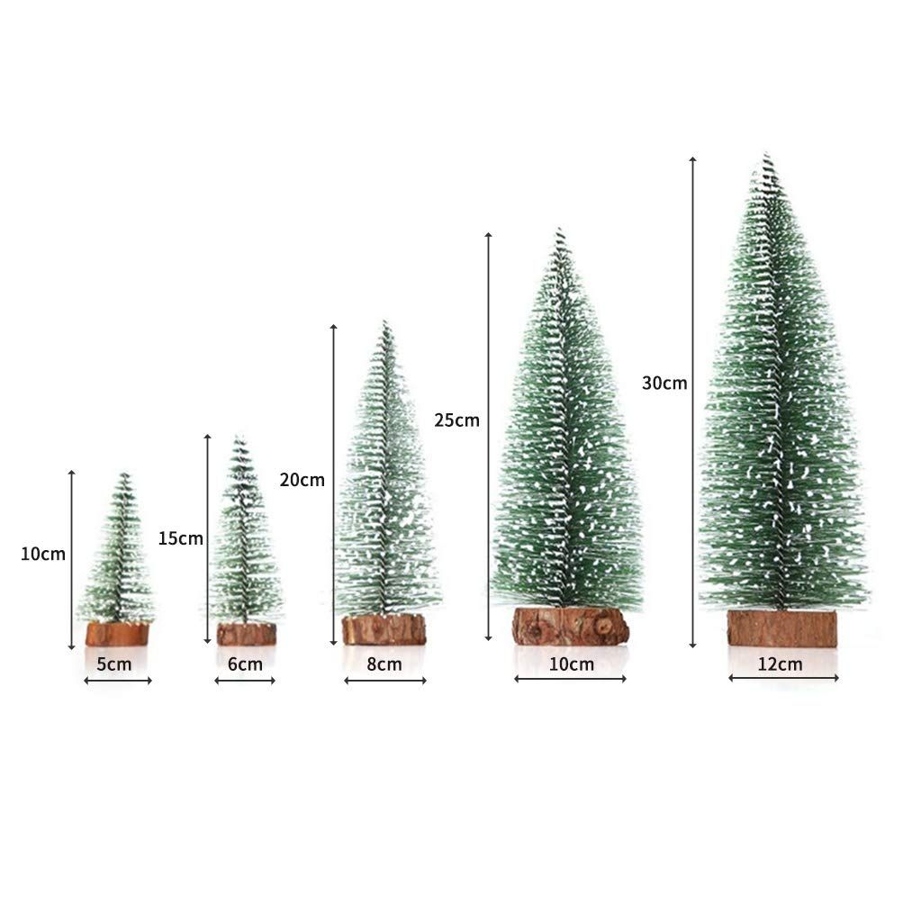 Yjb Set Of 5pcs Mixed Realistic Mini Cedar Tree Tabletop Christmas