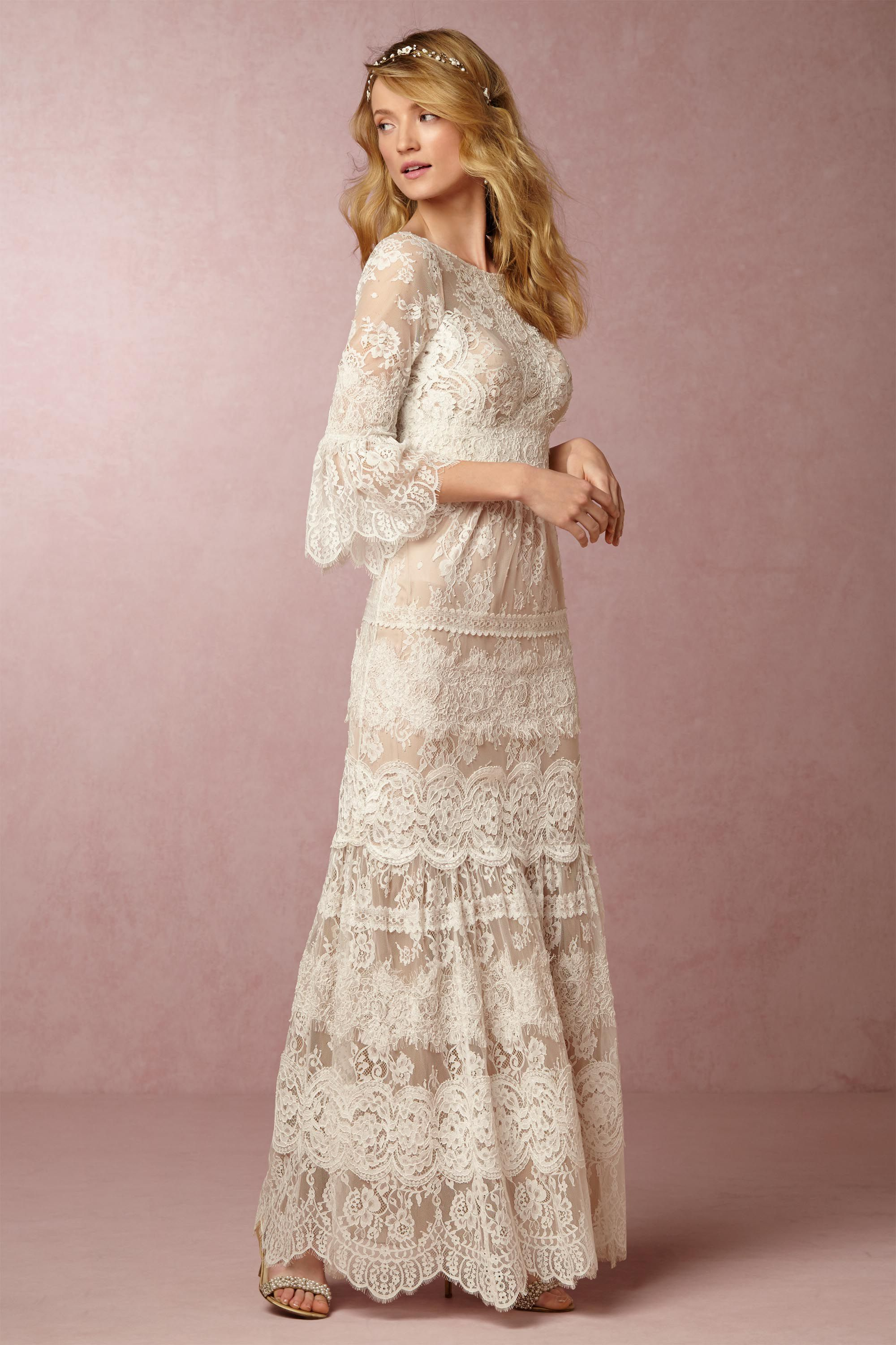 Drew Gown from BHLDN  Μόδα  Pinterest  Gowns Wedding dress and