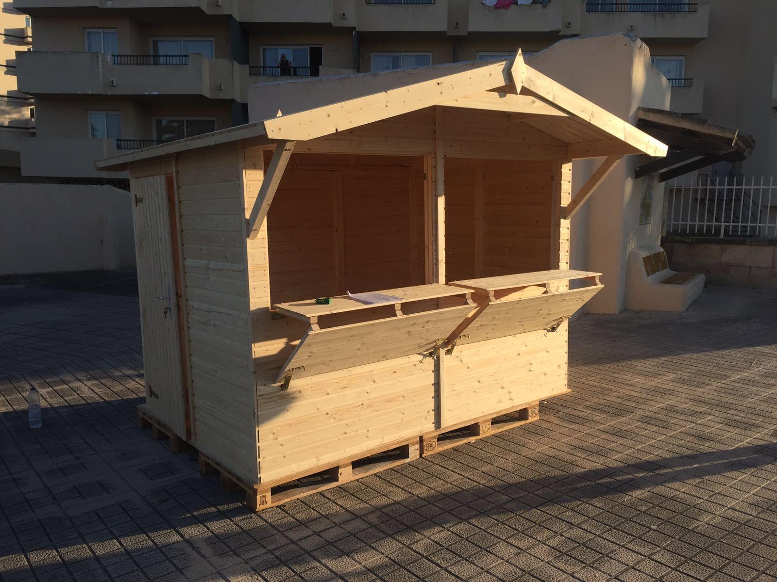 kiosko de madera palmako modelo stella 5m disponible en