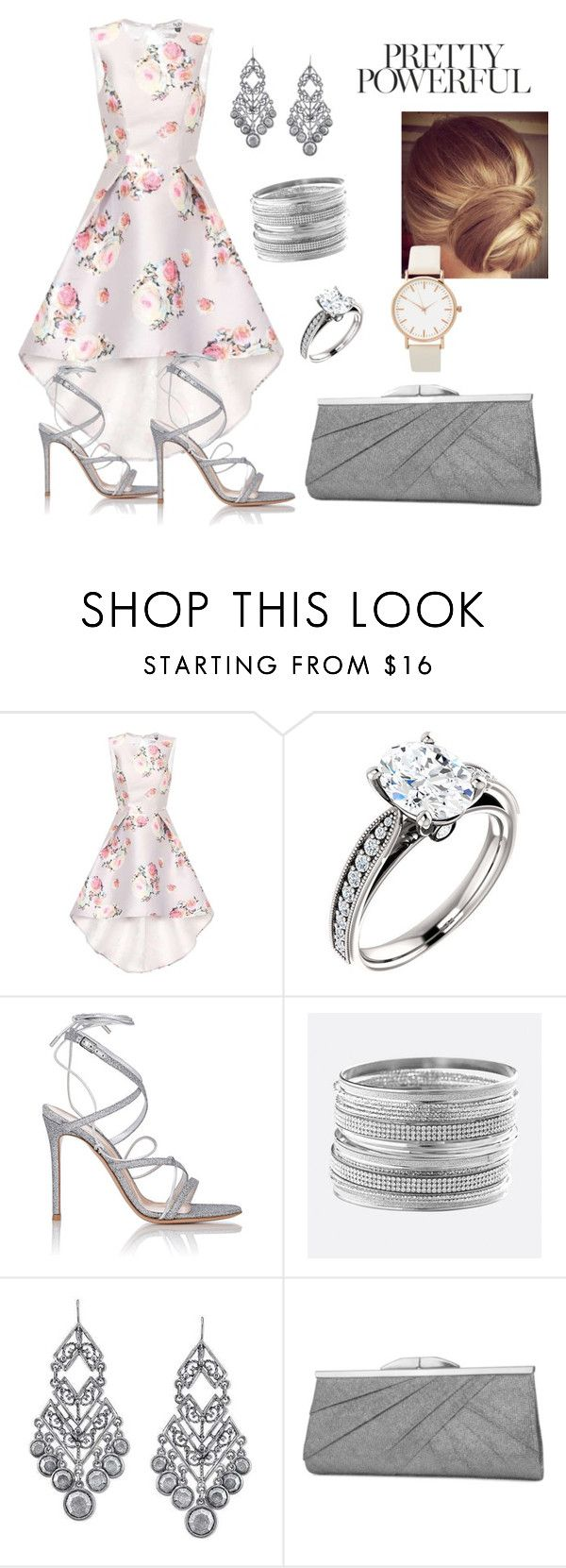"""""""Pretty powerful"""" by valecontarino on Polyvore featuring Chi Chi, Gianvito Rossi, Avenue, 1928 and Jessica McClintock"""