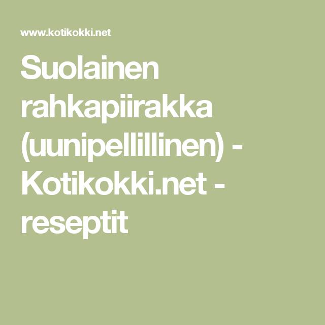 Suolainen rahkapiirakka (uunipellillinen) - Kotikokki.net - reseptit