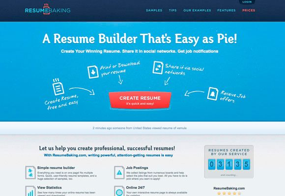 inspirational examples of eye catching website design - Resume Websites Examples