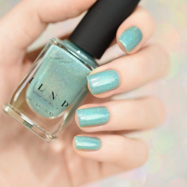 Music Box - Teal Blue Holographic Nail Polish by ILNP ...