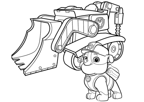 bulldozer coloring pages Paw Patrol Rubble's Bulldozer coloring page from PAW Patrol  bulldozer coloring pages