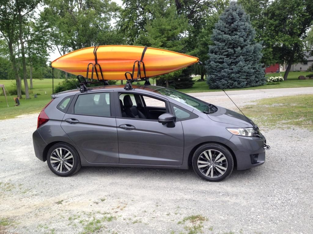 Roof Rack Unofficial Honda Fit Forums Honda Fit Motorcycle Camping Gear Honda Fit Camping