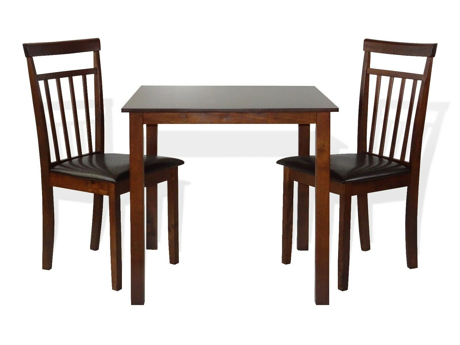 Dining Kitchen 3 Pc Set Square Table 2 Warm Chairs Dark Walnut Dining Table Ideas Of Dining Table Diningtable