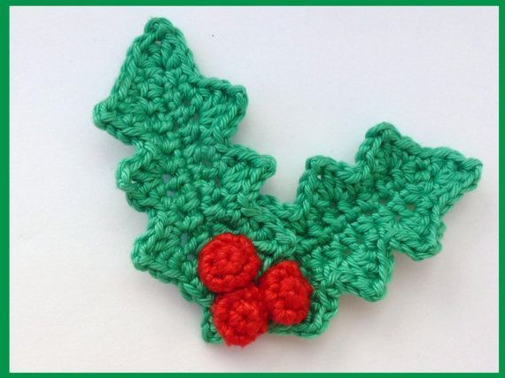 Image result for knitting pattern for holly and berries | Christmas ...