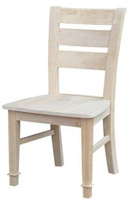 Home Unfinished Dining Chairs Chair Wood Furniture