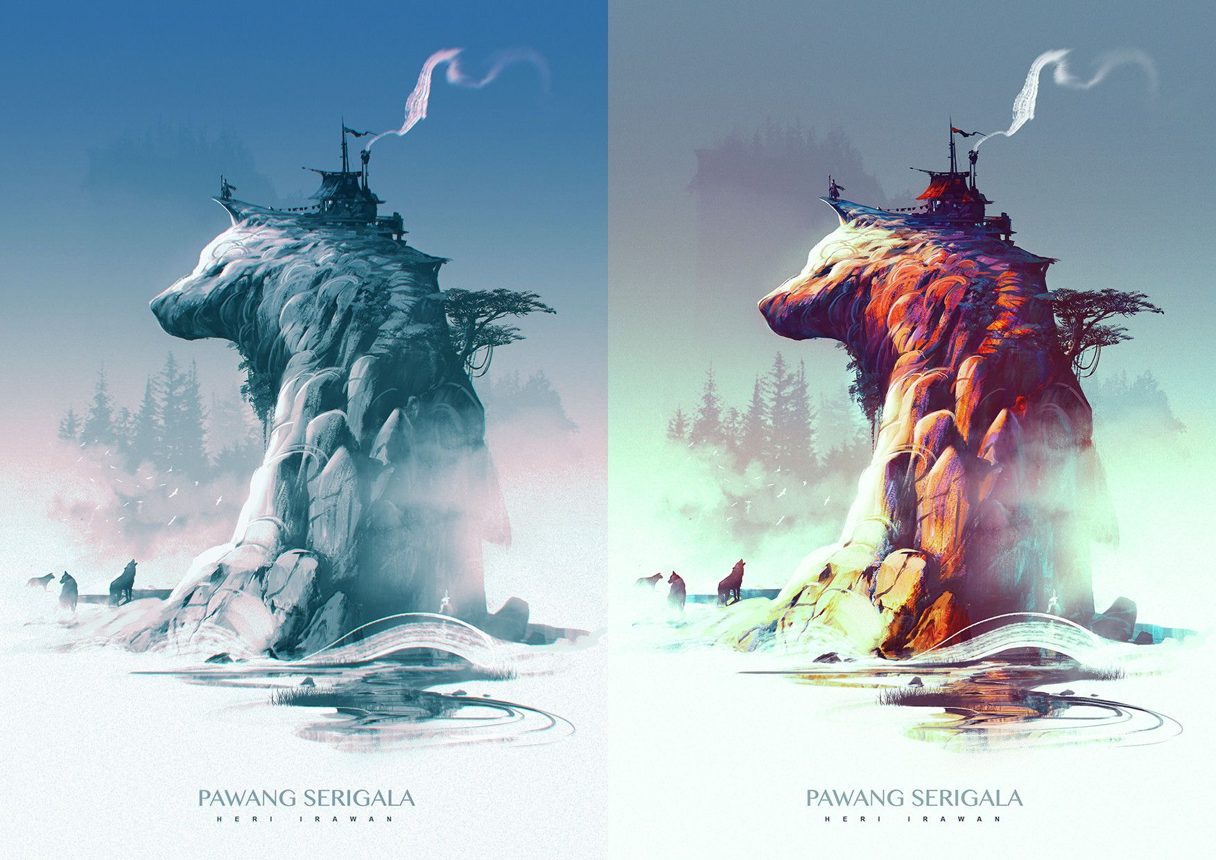 We Want To Live On Bear Mountain Awesome Conceptart By Heri Irawan Artist Of The Day Fantasy Concept Art Dream Art 2d Art