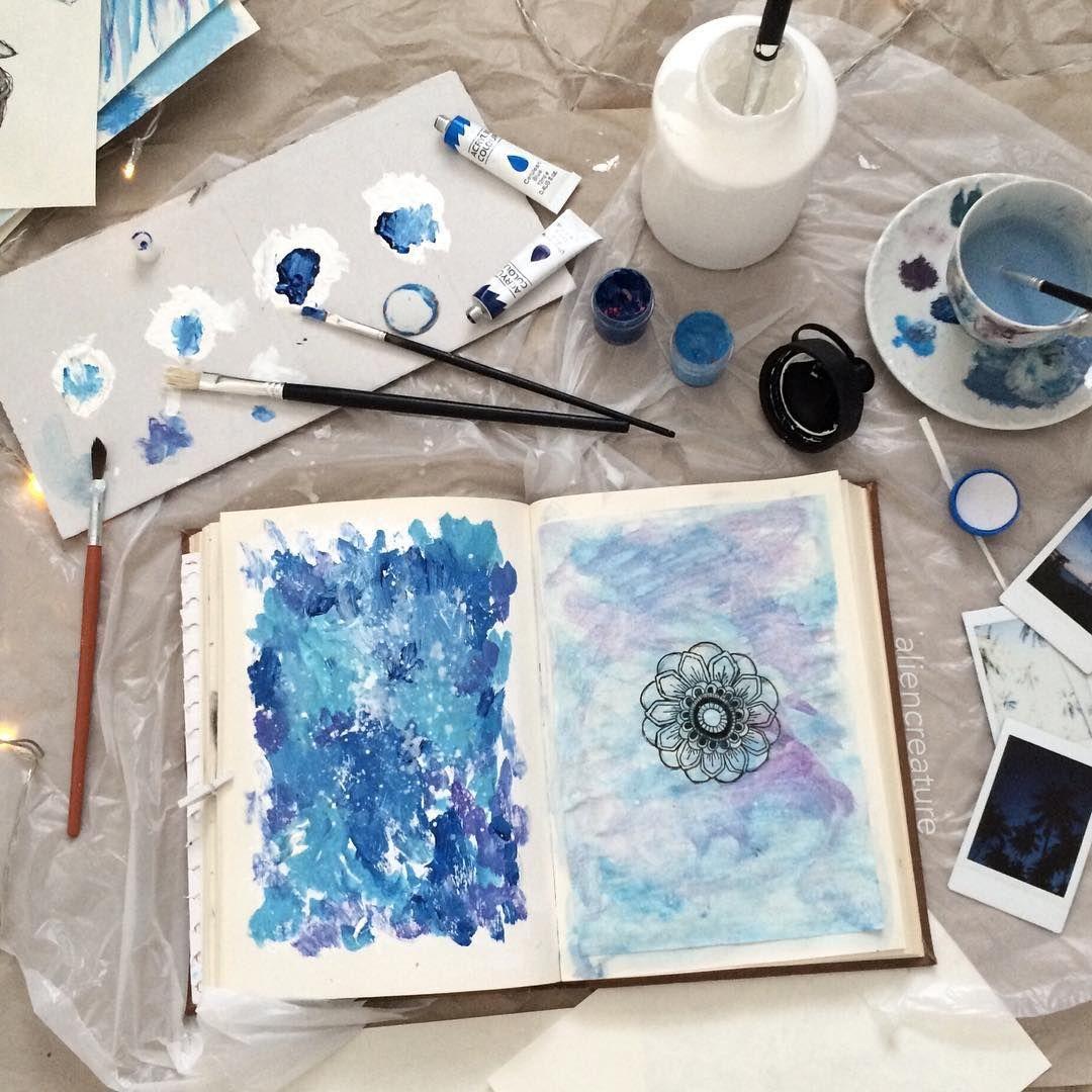 Красивые синие картинки для инстаграм