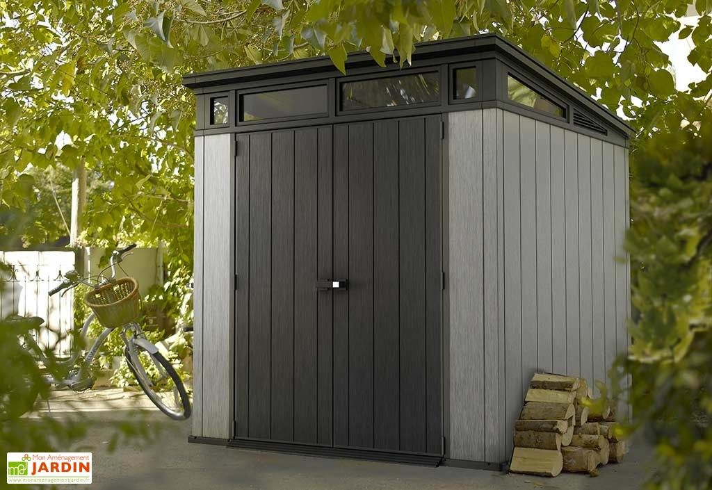 Abri De Jardin Pvc Brossium Monopente 77 216 X 216 Outdoor Sheds Garden Storage Shed Keter Sheds