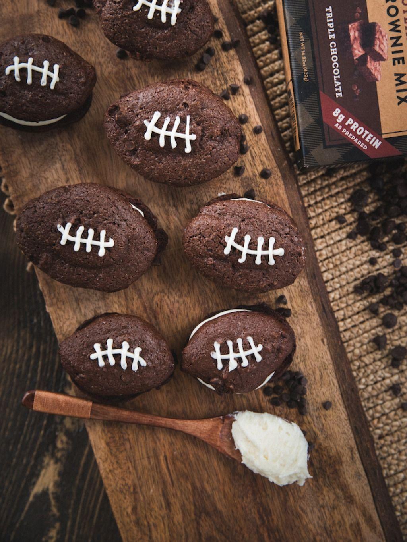 Football whoopie pies whoopie pies desserts chocolate