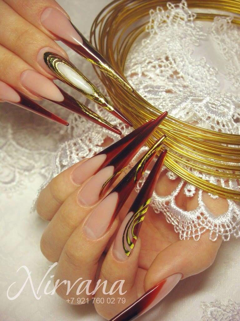 Stiletto nails #extreme #nailart #shows