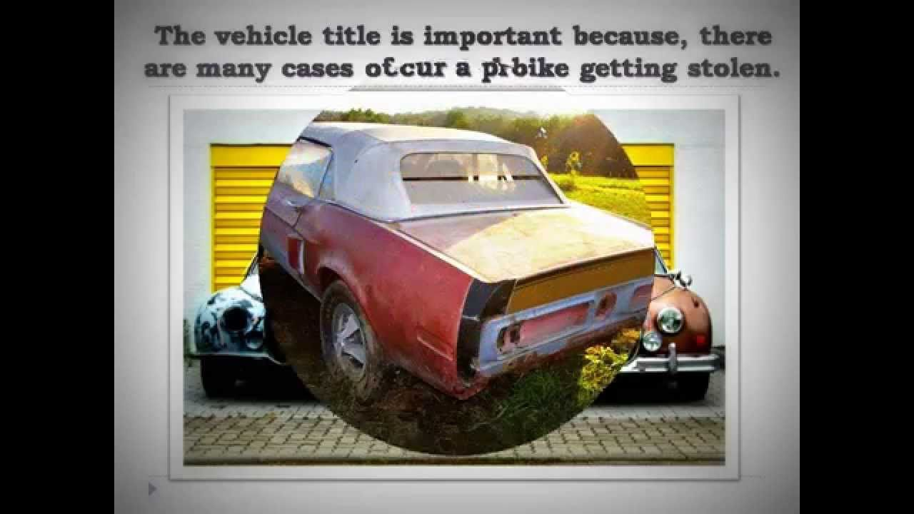 How to Get a Title for a #Car | Car Title Search | Pinterest | Cars ...