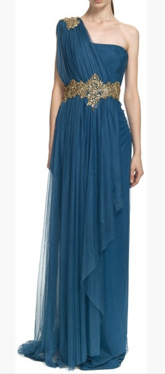 Dress gold and navy blue