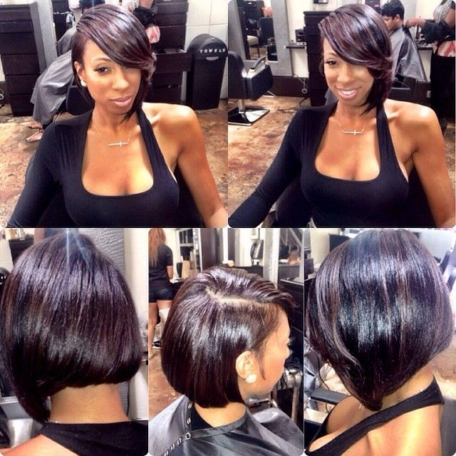 Deep Side Part Weave Hair Cut Is Cute Might Get Slayed