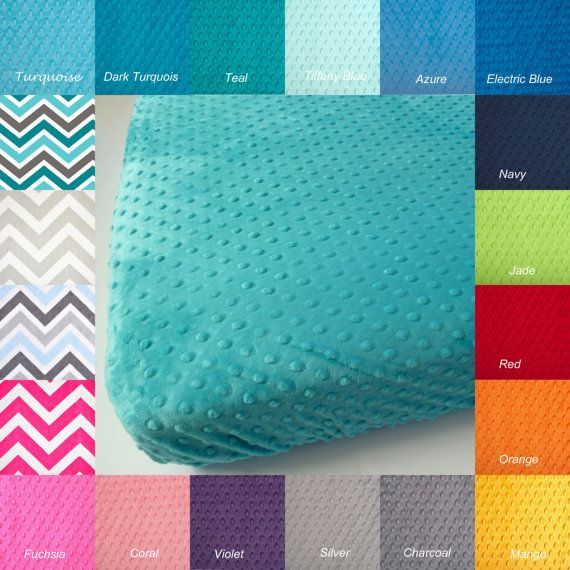 Minky Crib Sheet - Baby or Toddler Sheet - You Choose Minky Color ...
