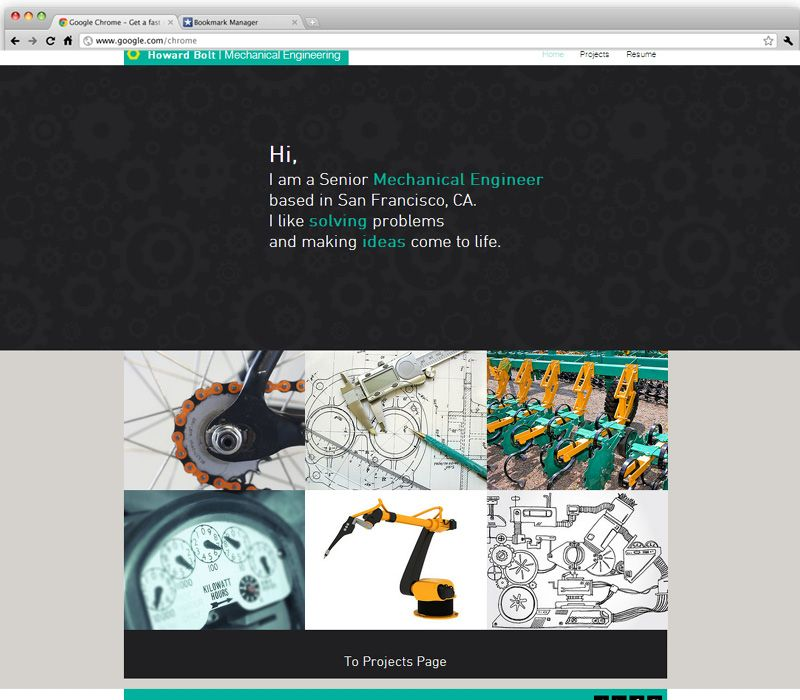 Mechanical Engineer Free website templates, Website
