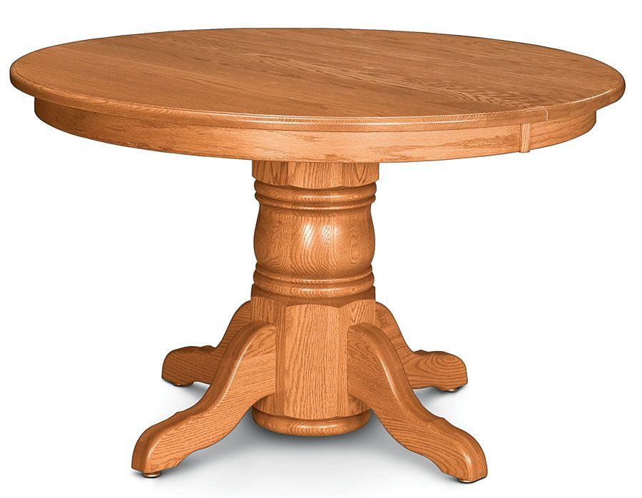 Ettra F06e12c O01 Pedestal Table Table Amish Furniture