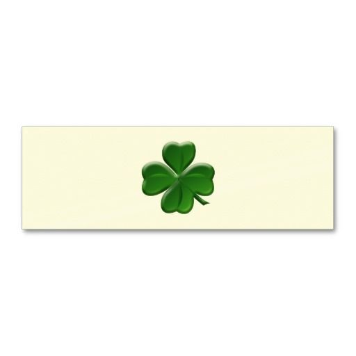 four leaf clover st patrick s day button mini business card div