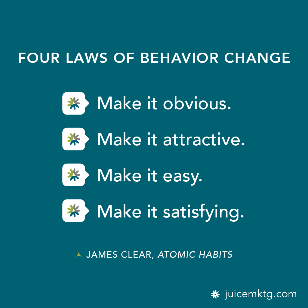 Four Laws Of Behavior Change In
