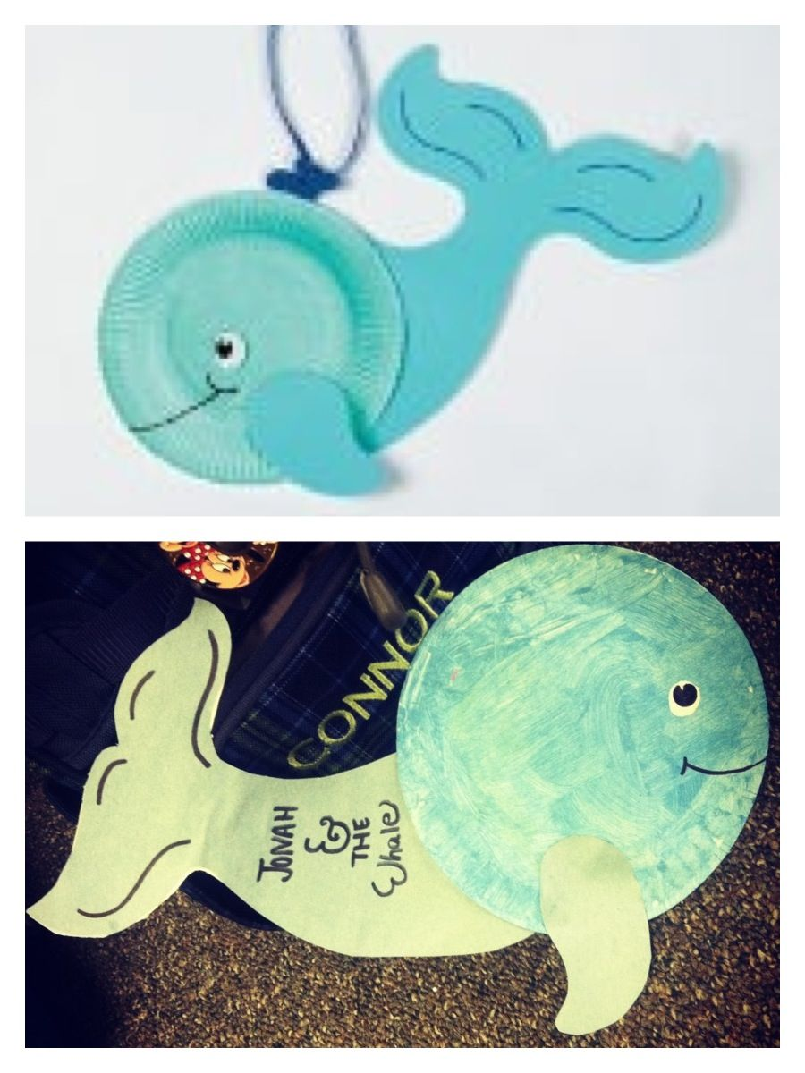 Whale craft, turned into Jonah & The Whale craft for my babies ...
