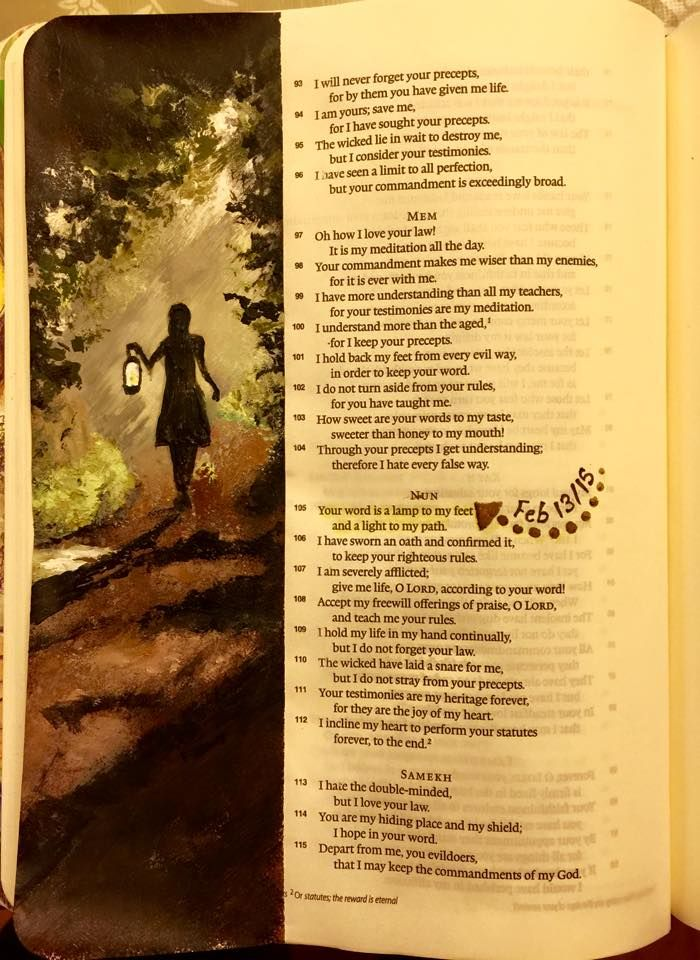 Created by: Cathy Dods Wood -  Bible Journaling, Bible Art Journaling