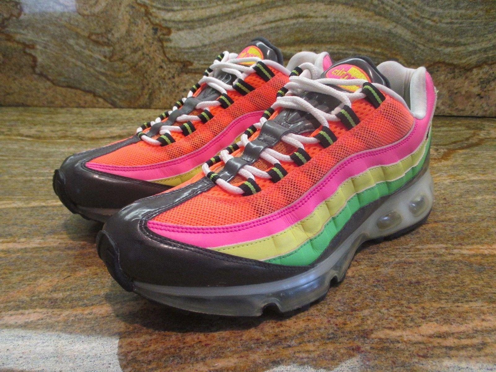 2007 Nike Air Max 95 360 SZ 9.5 Highlighter Rainbow