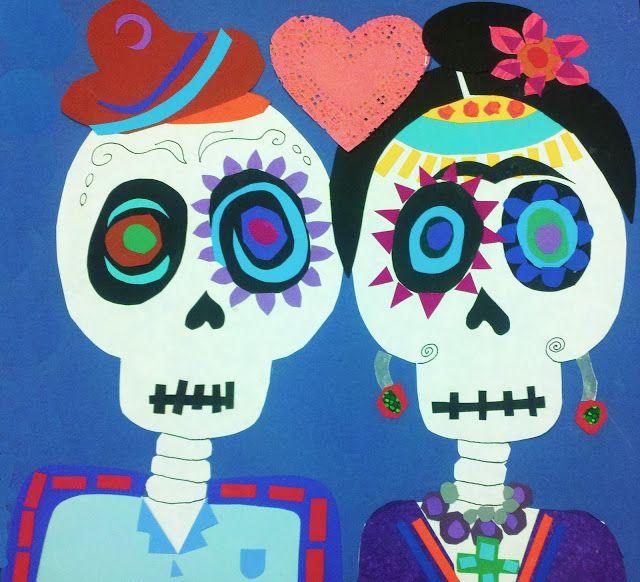 DIY Tutorial - Modern Art 4 Kids: Día de los Muertos Calavera Collage - Frida y Diego
