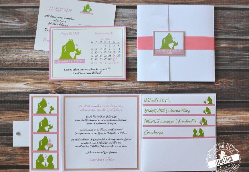 Froschkonig Feenstaub At Karte Hochzeit Hochzeitseinladung Hochzeitskarten