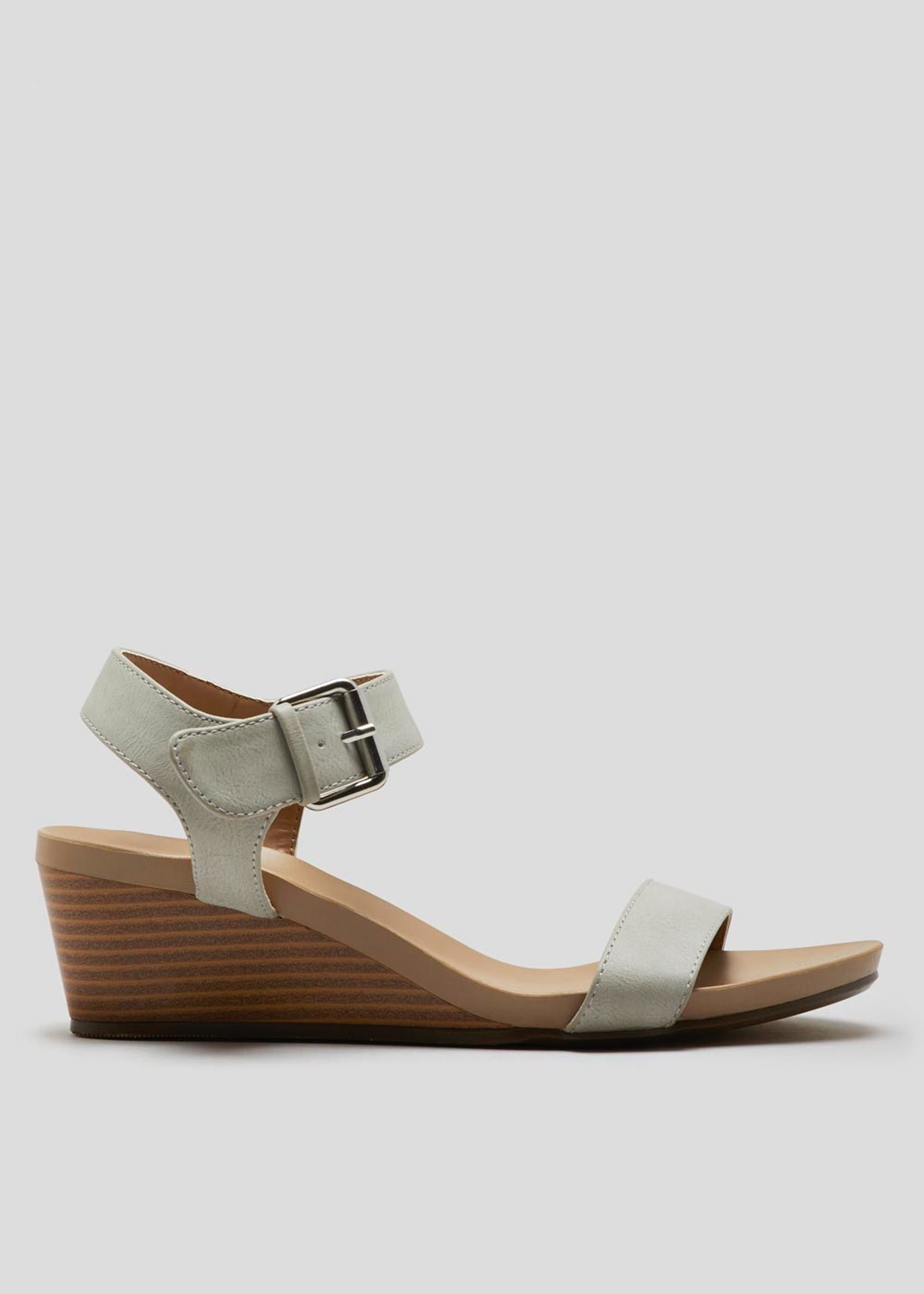 a0dba7f107 Soleflex Buckle Wedges in 2019 | Footware | Wedges, Fashion, Ankle strap