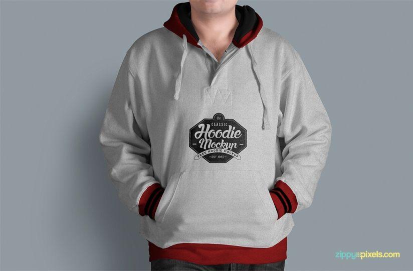 Free Hoodie Mockup PSD | ZippyPixels | Free stuff | Pinterest | Mockup