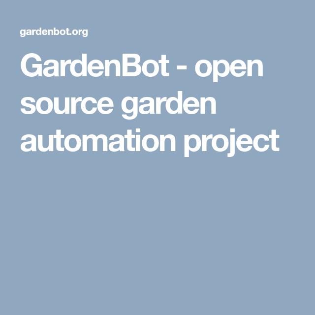 GardenBot - open source garden automation project   Wemos