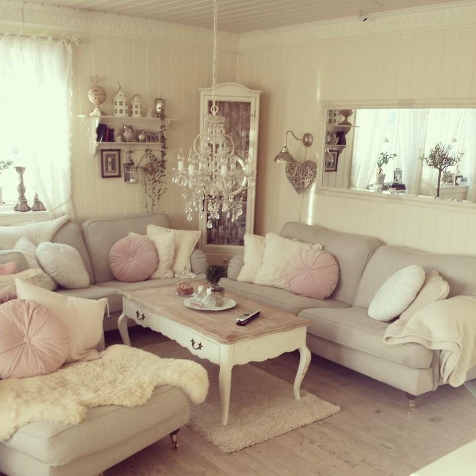 70 Vintage Shabby Chic Living Room Decorations Ideas