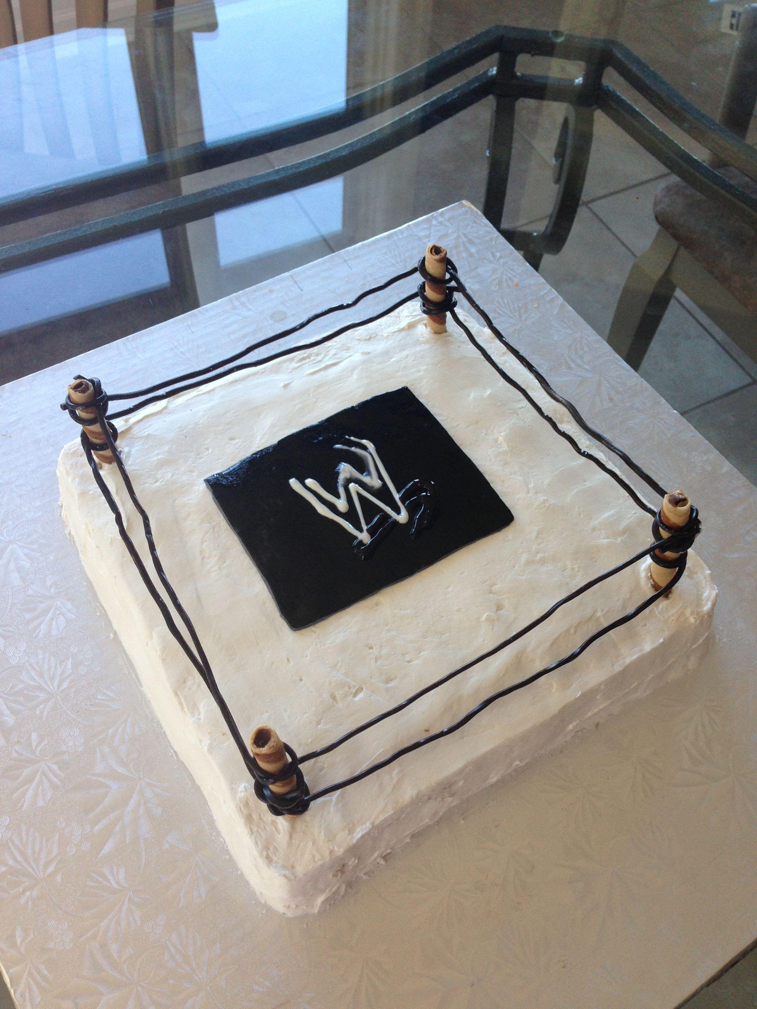 Wrestling Ring Cake - great fun for a WWE fan!