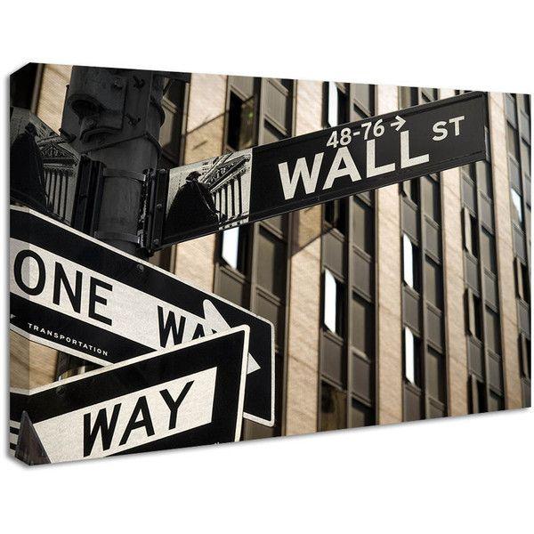 Street Sign Home Decor Stunning Nucasa New York Street Sign Canvas Print $42 ❤ Liked On Inspiration Design