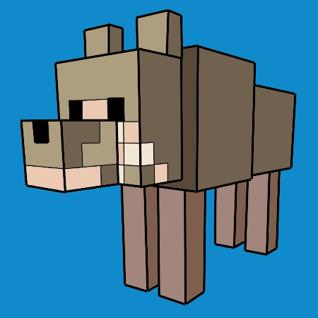 Coloriage Le Loup Dans Minecraft A Imprimer Minecraft Dessin A