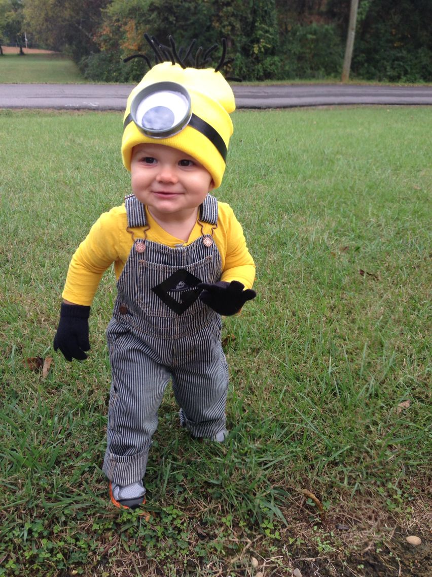 Crosby's minion outfit I (partially) made. I made his hat