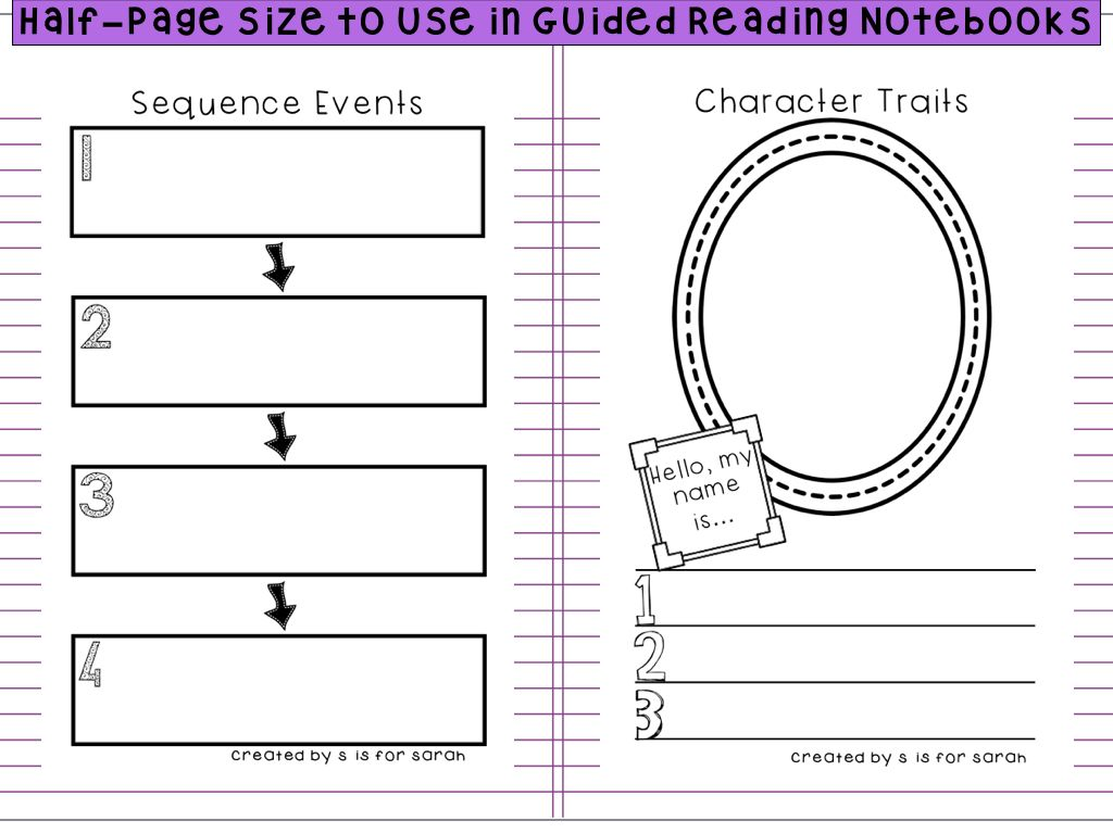 Great for encouraging comprehension in guided reading groups