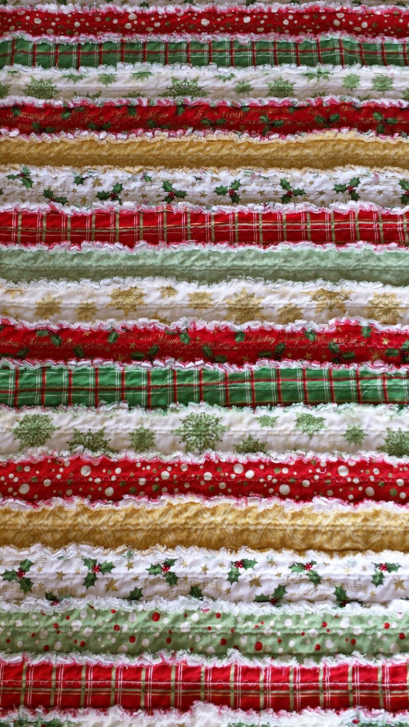 Christmas Jelly Roll Rag Quilt Holiday Magic Fabric by Whistler ... : christmas rag quilt patterns - Adamdwight.com