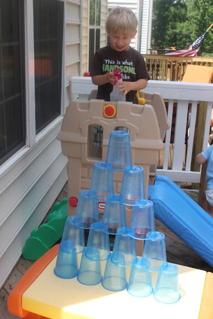Target practice! think we just might do this tomorrow :) #backyardfun #campsunnypatch