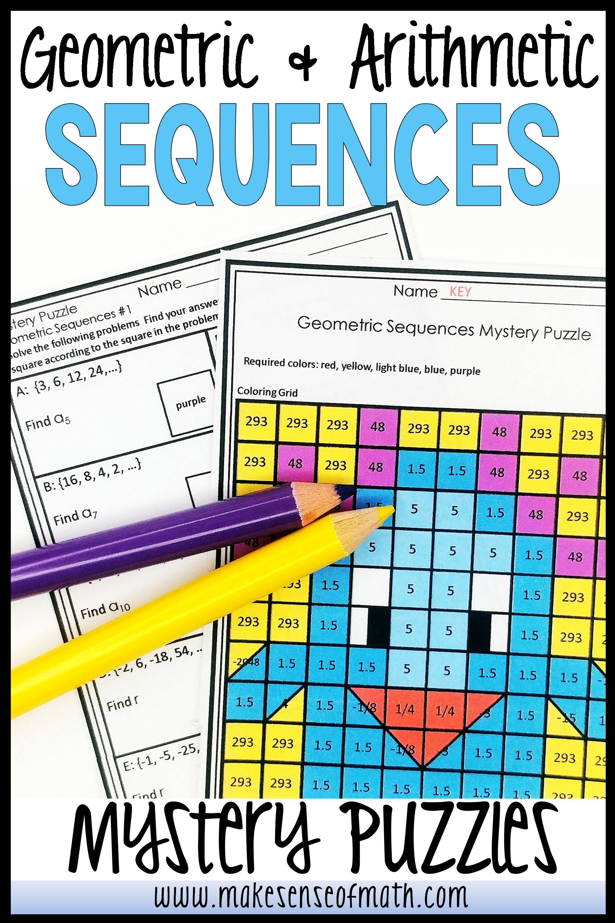 Geometric Sequences Activity And Arithmetic Sequences
