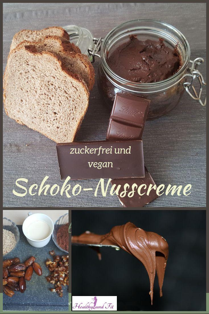 Schoko-Nusscreme, vegan und zuckerfrei Schoko-Nusscreme, vegan und zuckerfrei -