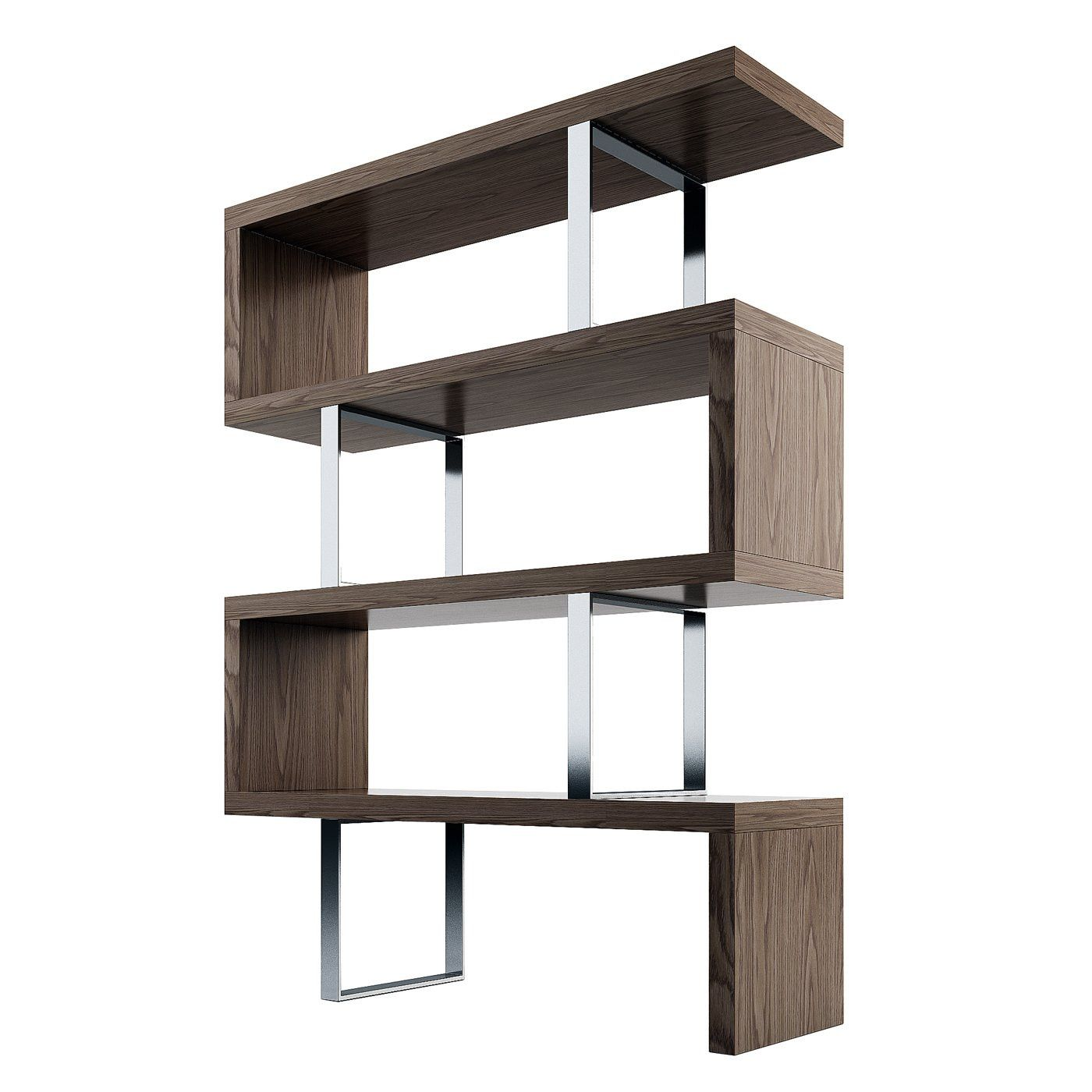Pearl bookcase walnut pearls open shelving and wood veneer