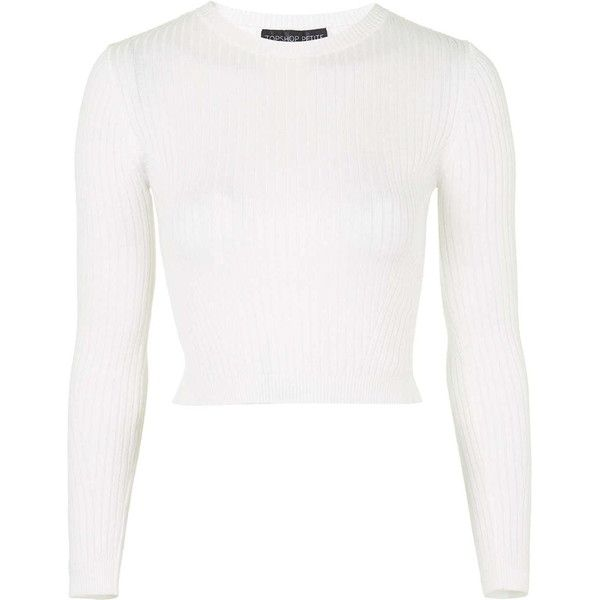 pre order biggest discount run shoes TOPSHOP PETITE Ribbed Cropped Jumper ($36) ❤ liked on Polyvore ...