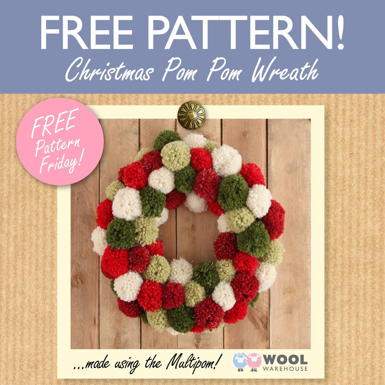 We\'ve gone pom pom crazy at Wool Warehouse this week! ...and with ...
