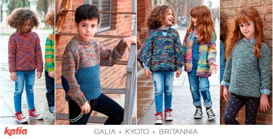 Vuelta al cole… ¡a punto! Con los 48 diseños de nuestra revista Katia Niños 79 y las tendencias más divertidas | http://www.katia.com/blog/es/vuelta-cole-disenos-revista-katia-ninos-79/